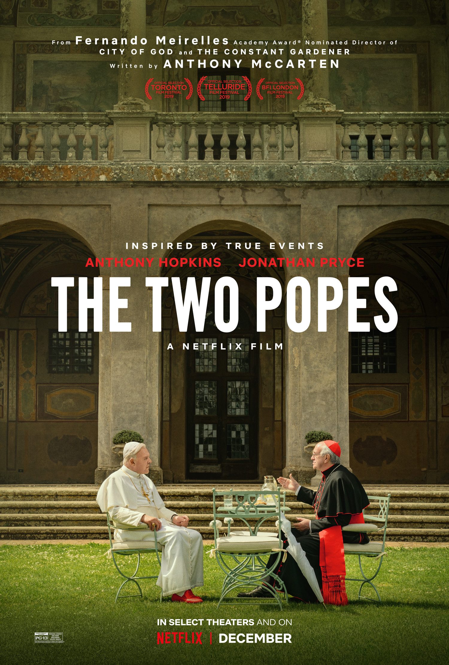 The 2 Popes, Anthony Hopkins, Jonathyn Price IMDB Movie Poster