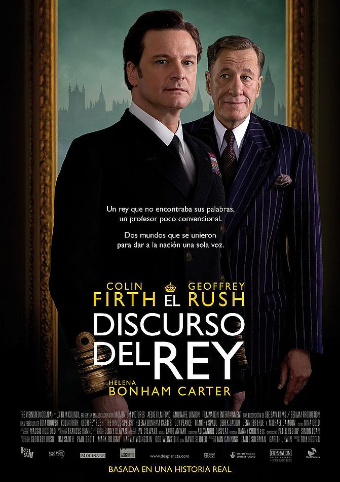 The King's Speech, Poster Colin Firth and Geoffrey Rush Movie Poster